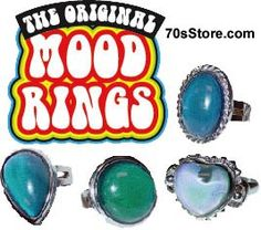 """Mood rings - one of the fads of the 70's. My friends and I were always checking our """"moods"""" by watching the changing colors of the ring."""