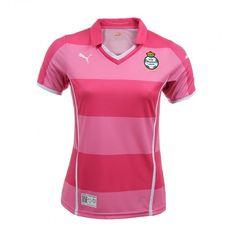 El jersey Santos Pink 2013 de Puma para mujer forma parte de la campaña rosa para combatir el cáncer de mama.