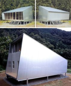 prefab modern box home if i ever own a cottage, amazing design