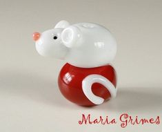 Lampwork Mouse Bead by gardenpathbeads on Etsy, $9.00