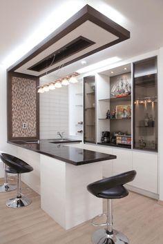 월간전원주택라이프 Living Room Partition Design, Ceiling Design Living Room, Kitchen Bar Design, Kitchen Decor, Pantry Interior, Kitchen Interior, Bars For Home, Decoration, Sweet