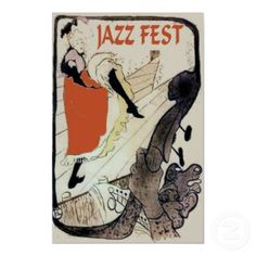Latrec style Jazz Fest Poster poster
