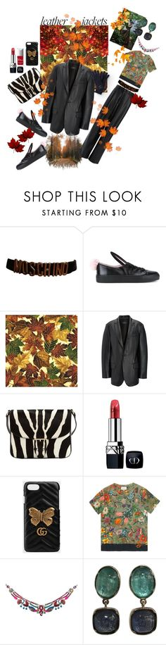 """""""🍂🍂🍂🍂🍂🍁🍁🍁 Fake leather jackets do it better 🙊🙉🙈🍂🍂🍂🍂"""" by maijah ❤ liked on Polyvore featuring Moschino, Minna Parikka, Joseph, Burberry, Christian Dior, Couture Colour, Gucci, Ayala Bar, wear and show"""