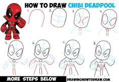 How to Draw Chibi Deadpool Easy Step by Step Drawing Tutorial