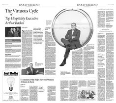 The Virtuous Cycle of Top Hospitality Executive Arthur Backal|Epoch Times #Career #Story #newspaper #editorialdesign