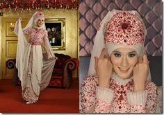 a jilbab saat pengantin di Hijab Merah Maron