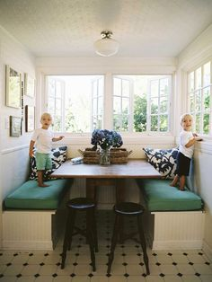Built-in Dining Banquette from Lonny Magazine