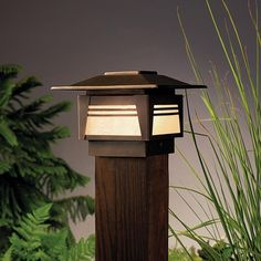 Kichler Lighting Zen Garden 1 Light Landscape Deck in Olde Bronze Garden Post Lights, Deck Post Lights, Garden Path Lighting, Path Lights, Pergola Lighting, Outdoor Lighting, Lighting Ideas, Landscape Lighting Design, Deck Posts