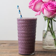 Blueberry, Peach and Oat Smoothie