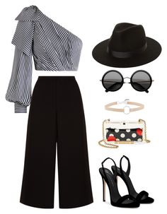 """Untitled #757"" by dolrebeca ❤ liked on Polyvore featuring Zimmermann, Giuseppe Zanotti, RED Valentino, Witchery and Lack of Color"