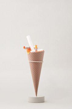 Paper Ice Cream Sculptures-5
