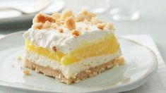 We're suckers for sunny citrus treats in the summer, and this cool, creamy lemon lush surely fits the bill.