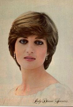 Lady Diana Spencer.