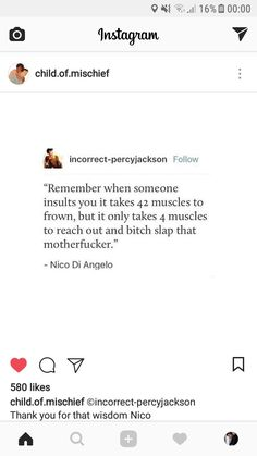 I could totally see Nico saying that and Will being very proud of him knowing how many muscles you need