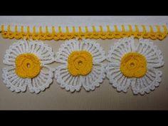 Bico de Crochê Com Flores - Wilma Crochê - YouTube