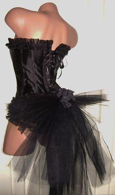 BURLESQUE /FANCY DRESS BUSTLE WITH RUMBA SHORTS 8-12 SHOWGIRL | eBay
