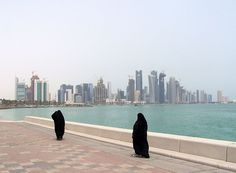 Doha Corniche with Doha Skyline