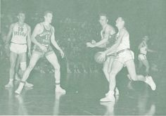 1951 Washington State-Oregon basketball game at Mac court. From the 1951 Oregana (University of Oregon yearbook). www.CampusAttic.com
