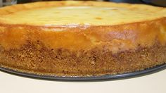 A basic thick cheesecake. Serve with your favorite fruit topping.
