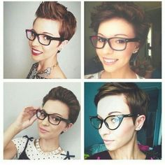 Korte kapsels en bril
