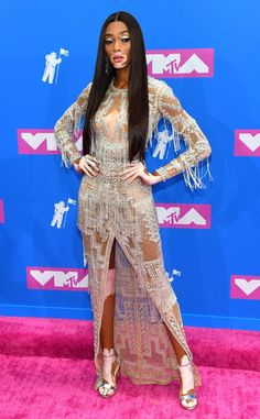 7ee09210f29 Madison Beer from MTV Video Music Awards 2018  Red Carpet Fashion. Winnie  Harlow ...
