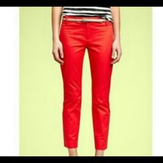 Orange  Cropped Pants Cute Gap Crisp Orange Skinny Cropped Pants. 98% cotton 2% spandex. No pockets so they lay flat. GAP Pants Ankle & Cropped