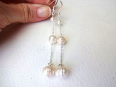 Freshwater Pearl and Sterling Silver Delicate by KalosandCo, $36.00