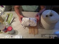 Master class \'A lacy casket\' part 1 // Оксана Волчик Twine Crafts, Dyi Crafts, Crafts For Kids, Sisal, Diy Angel Wings, Rope Art, Ribbon Art, Chocolate Gifts, Quilling