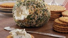Serve crackers with this herbed goat cheese ball - an easy and flavorful appetizer.