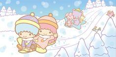 Little Twin Stars ☆ Winter snow slide