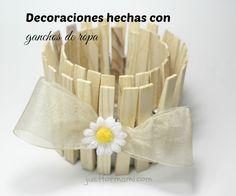 Decoraciones hechas con ganchos de ropa