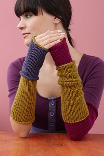 These simple wrist warmers come in three different lengths -- perfect for any member of the family! (Lion Brand Yarn)