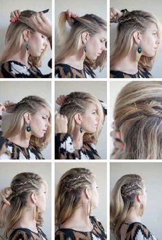Faux Undercut - Cornrow Combover - - fantasias cabelo curtoYou can find Undercut and more on our website. Rock Hairstyles, Box Braids Hairstyles, Viking Hairstyles, Men's Hairstyle, Summer Hairstyles, Combover Hairstyles, Fantasy Hairstyles, Grunge Hairstyles, Festival Hairstyles