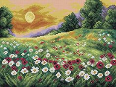 Cross Stitch Designs, Cross Stitch Patterns, Knitting Patterns, Cross Stitch Horse, Cross Stitch Landscape, Crochet Tablecloth, Rug Hooking, Goblin, Cross Stitch Embroidery