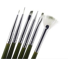 New 6Pcs Nail Brush Nail Art Design ainting Tool Pen Polish Brush Set Kit DIY Professional Nail Tools
