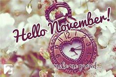 Que novembro seja bom para todos!