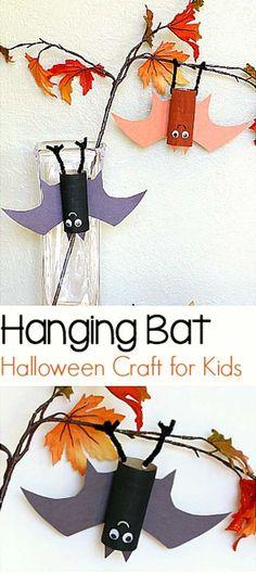 Simple hanging bat craft for kids.