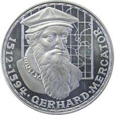 Moneda de Plata 5 Marcos Alemania 1969 Gerhard Mercator.