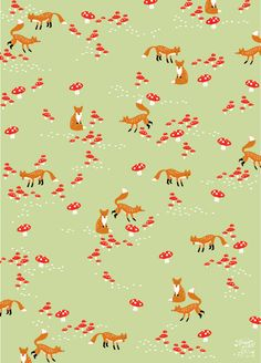 Solitaire - foxes eco wrapping paper