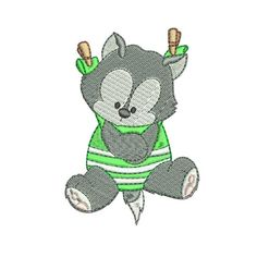 Baby Machine Embroidery Designs Pattern - Bear Embroidery Machine Design - All Formats Available - I