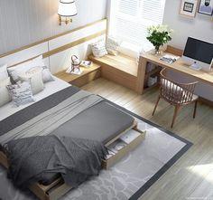 Trong một khoảng diện tích nhỏ, chủ nhà đã tận dụng được tối đa không gian để làm nơi ngủ, cất đồ, ngồi đọc sách, làm việc.