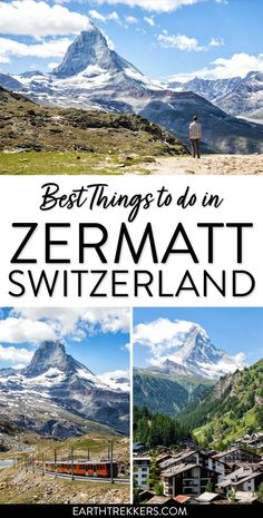 Best things to do in Zermatt, Switzerland. Where to get the best view of the Matterhorn, best hiking trails, and advice on where to stay. Thun Switzerland, Switzerland Summer, Switzerland Travel Guide, Switzerland Itinerary, Switzerland Hotels, Switzerland Vacation, Switzerland House, Switzerland Flag, Baby Boy Shower
