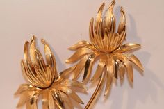 Vintage Trifari Brooch flowers by SVintageCollection on Etsy, $30.00