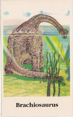 Brachiosaurus by Anatotitan, via Flickr | Vintage dinosaur art