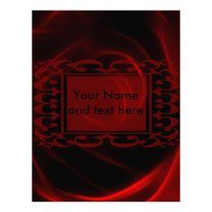 Red Rose wedding custom letterhead