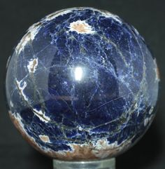 Namibia Sodalite Sphere # 0388 4  inches in diameter. Available @ www.RocknSpheres.com