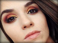 Make pôr do sol com sombras laranja e amarela!!! #maquiagem #makeup #sunset #pordosol #sombralaranja