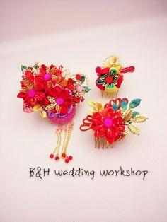 Chinese  accessories  Handmade HK$450  US56   Design from B&H Wedding Workshop  Facebook https://m.facebook.com/BHWeddingWorkshop