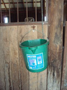 The heated water buckets are worth the cost!
