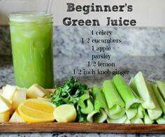 Green Juice Recipe for Beginners. Looks yummy and refreshing - Juicing and Smoothies - Green Juice Recipe for Beginners. Looks yummy and refreshing - Green Juice Recipes, Healthy Juice Recipes, Juicer Recipes, Healthy Detox, Healthy Juices, Healthy Smoothies, Healthy Drinks, Green Smoothies, Detox Juices
